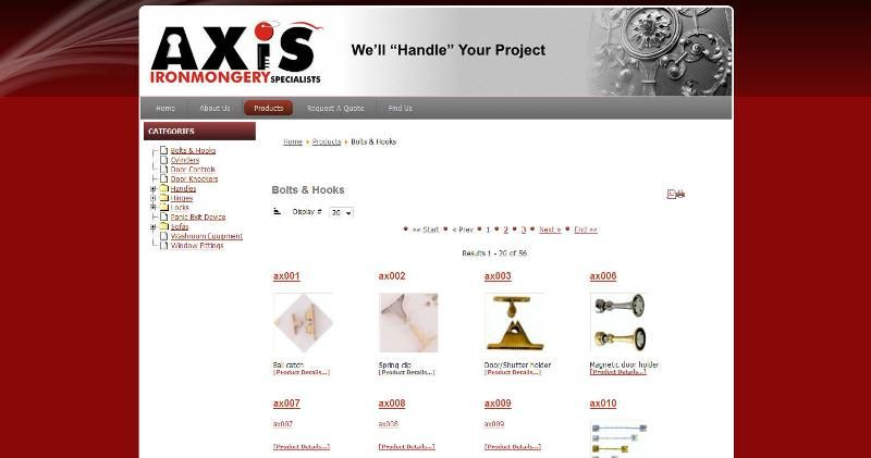 Axis Ironmongery Catalogue