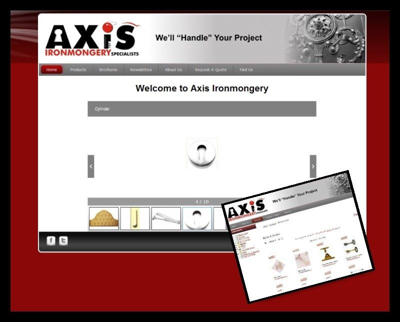 Axis Ironmongery Website